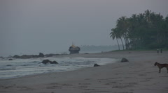 Ngwe Saung, beach at the Bay of Bengal Stock Footage