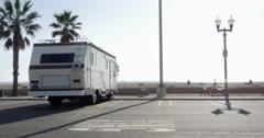 Camper Van in front of Beach 4k! Stock Footage