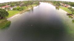 Lake Laura Kendall Lakes Miami Florida Clip 3 Stock Footage