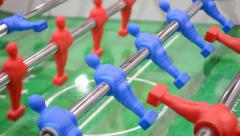 Football table game, soccer diversity, sport. Stock Footage