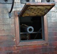 Gun in Old pirates ship Kuvituskuvat