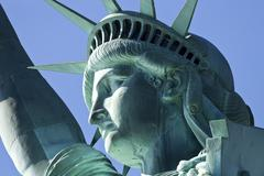 The Statue of Liberty the Detail Stock Photos