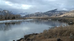 Yellowstone Mountain River - stock footage