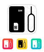 Standard SIM icon - stock illustration