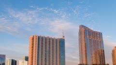 Atlanta Spire Apartment Condo Complex Skyline Timelapse Sunset Stock Footage