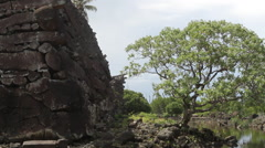 Nan Madol on the Micronesian island of Pohnpei - stock footage