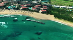Marriot resort in St.Kitts island Stock Footage