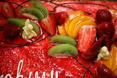 Pie with fruit - stock photo