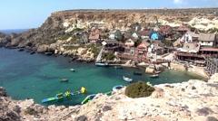 Popeye Village, Malta Stock Footage