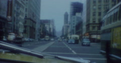 San Francisco City Street 60s Vintage - stock footage
