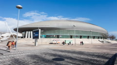 Atlantico Pavilion aka MEO Arena in Park of Nations. Lisbon, Portugal Stock Footage