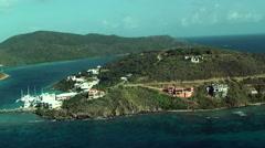 Small island in Caraibe Sea Stock Footage