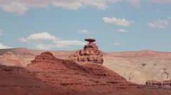 Mexican Hat, Monument Valley, Utah Stock Footage