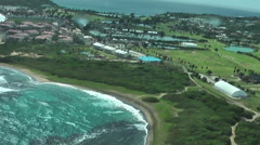 St.Kitts island, shot from helicopter Stock Footage
