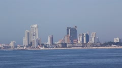 Beach and cityscape of Mazatlan, Mexico Stock Footage