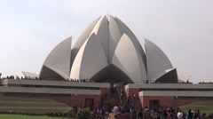Lotus Temple or Bahai House of Worship 3 Stock Footage