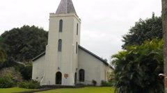 wananalua church hana, maui - stock footage