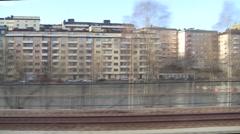 Arlanda Express 50s No Sound Stock Footage