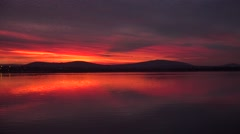Dramatic Columbia River Sunset Stock Footage