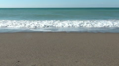 Small Waves at the beach, Slow Motion Stock Footage