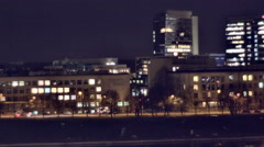 Vilnius city in the night 3 - stock footage