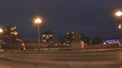Night Vilnius. Bridge 1 - stock footage