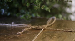 Tied with rope book Stock Footage