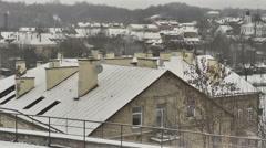 Vilnius. Winter 8 Timelapse Stock Footage