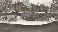 Vilnius. Winter 10 Uzupis Stock Footage