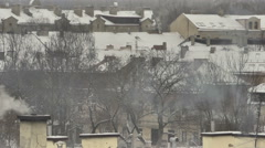 Vilnius. Winter 5 zoom out Stock Footage