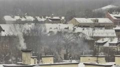 Vilnius. Winter 7 Pan. Stock Footage