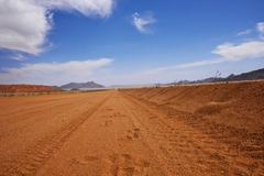 Gravel road Namibia - stock photo