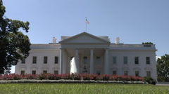 White House Still Lawn Shot - Home of the President of the United States Stock Footage