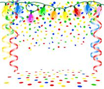 party background with chain of lights - stock illustration