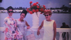 Attractive Ladies Dressed Up To Shop-1969 Vintage 8mm film Stock Footage