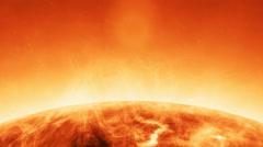 Sun solar atmosphere detail - stock footage