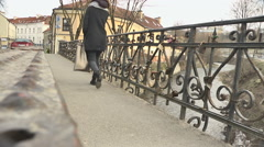 Lithuania, Vilnius, Uzupis 10 Stock Footage