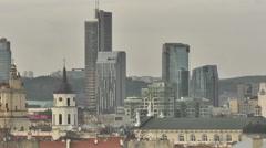 Vilnius. Old street 11 Stock Footage