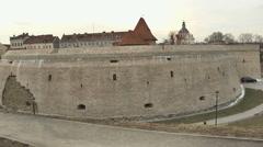 Vilnius. Old street 8 - stock footage