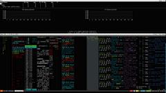 4k resolution Hacker 's computer screen Stock Footage