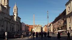 Piazza Navona. Rome Stock Footage