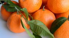 Oranges Bright Fruit - stock footage