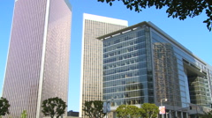 Low angle shot of high rises in Century City, Los Angeles, California. - stock footage