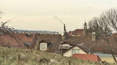 Vilnius. Roofs of Old Town 6 - stock footage