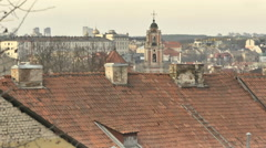 Vilnius. Roofs of Old Town 3 - stock footage