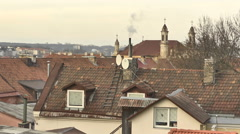 Vilnius. Roofs of Old Town 2 - stock footage