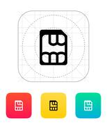 Nano SIM icon Stock Illustration