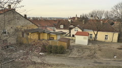 Vilnius. Roofs and Yard of Old Town 4 - stock footage