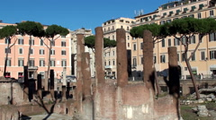 Largo di Torre Argentina, Rome, Italy. Stock Footage