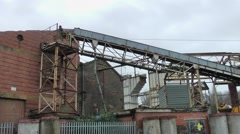 Old industrial derelict factory Longport Stoke on Trent urban decay Stock Footage